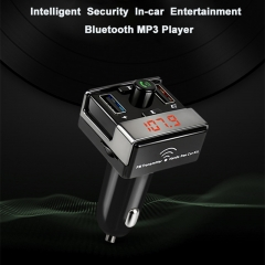 Smart Car Kit Bluetooth FM Transmitter USB Car Charger MP3 player Support TF card USB AUX