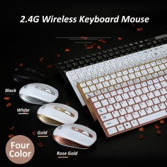 Ultra Thin 2.4G Optical Wireless USB Keyboard and Mouse Set for PC Laptop black one size