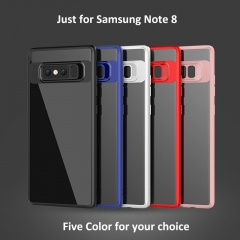 Full Cover Protective Case Ultrathin Transparent Phone Case Cover for Samsung Note 8 pink one size