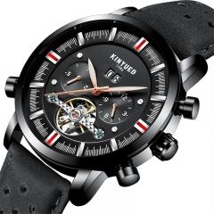 Men Top Brand Mechanical Watches Luxury Perpetual Tourbillon Automatic Waterproof Wrist Watch black one size