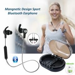 Sport Bluetooth Headset HD Super Bass Stereo Earbuds IPX7 Waterproof Music Headphone black