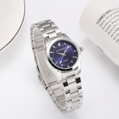 Hot Sale Diamond Encrusted Women Quartz Watches Stainless Steel Waterproof Wristwatch blue