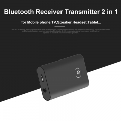 2 In 1 Bluetooth Adapter A2DP Wireless Music Receiver Bluetooth Audio Receiver Transmitter black one size