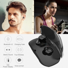 New Design TWS Bluetooth Earbuds Mini True Wireless Stereo Earphones with Charging Case white
