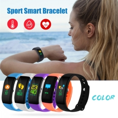 V66S Colorful Screen Smart Bracelet IP67 Waterproof Smart Watch Health Monitoring Smart Wristband black one size