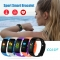 V66S Colorful Screen Smart Bracelet IP67 Waterproof Smart Watch Health Monitoring Smart Wristband black one size