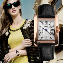 SKMEI Luxury Brand Women Quartz Analog Watch Fashion Ladies Stainless Steel Waterproof Wrist Watch black