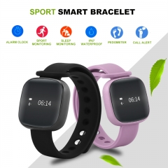 Bluetooth Smartwatch IP67 Waterproof Wristband Sport Smart Bracelet Fintness Tracker for IOS Android black 28cm
