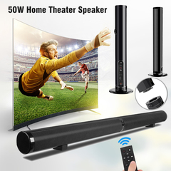 New Design Home Theater Speaker 50W HIFI Wired Stereo Bluetooth Sound Bar Remote Control TV Speakers black 50W lp-1807