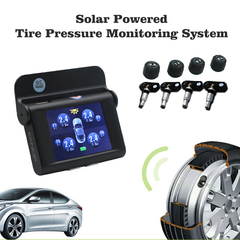 EANOP Solar Powered Smart Car TPMS 2.4 Inch TFT Screen Real Time Tire Pressure Monitor System black External
