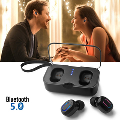 Newest TWS Blutooth 5.0 Earbuds Mini True Wireless In-ear Stereo Earphone Portable Music Headphone black