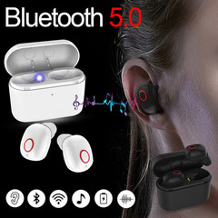 Newest TWS Blutooth 5.0 Earbuds Mini True Wireless In-ear Stereo Earphone with 400mAh Charging Case black