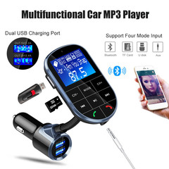 1.44 Inch Large Screen Car Mp3 Player Wireless Bluetooth FM Transmitter Dual USB Quick Car Charger