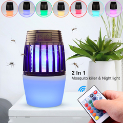 USB Charge LED Electric Mosquito Insect Killer Lamp Non-Toxic UV Pest Control Colorful Night Light Coffce