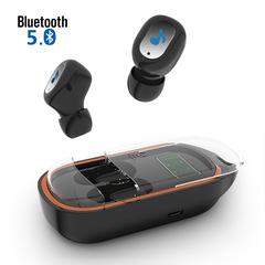 Bluetooth 5.0 TWS Earbuds Portable True Wireless Stereo Earphone LED Power Display Music Headphone black