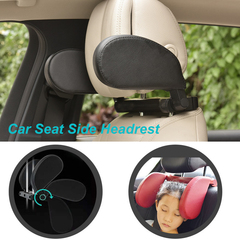 Car Side Headrest Car Seat Pillow Neck Support Travel Sleeping Cushion for Kids Adults black one size