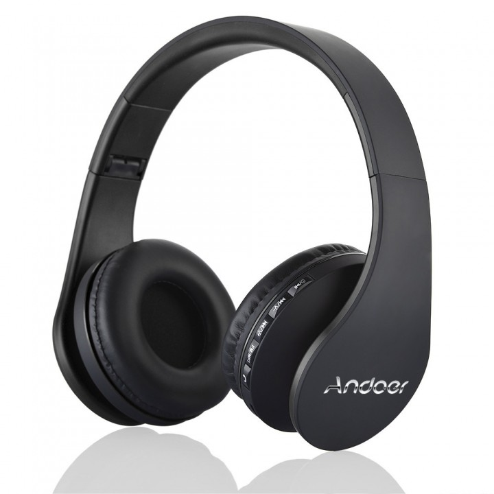 Andoer LH-811 4 in 1 Multifunctional Wireless Stereo Bluetooth Headset Black
