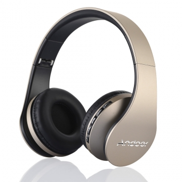 Andoer LH-811 4 in 1 Multifunctional Wireless Stereo Bluetooth Headset gold