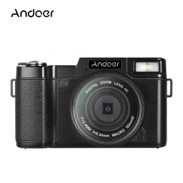 Andoer CDR2 1080P 15fps Full HD 24MP Digital Camera black 12.4 * 6.8 * 5.2cm