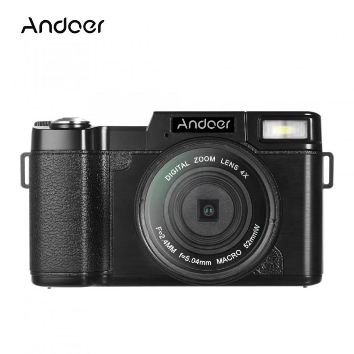 Andoer CDR2 1080P 15fps Full HD 24MP Digital Camera black 12.4 * 6.8 * 5.2cm