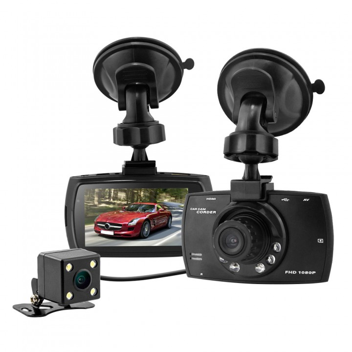 2.7inch 1080P FHD H.264 Night Vision Car DVR Video Recorder Dash Camcorder Dual Camera