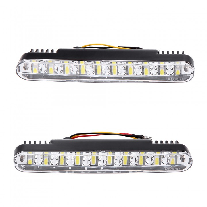2pcs 30LEDs Car Daytime Running Light DRL Daylight Lamp with Turn Signal Indicators Lights