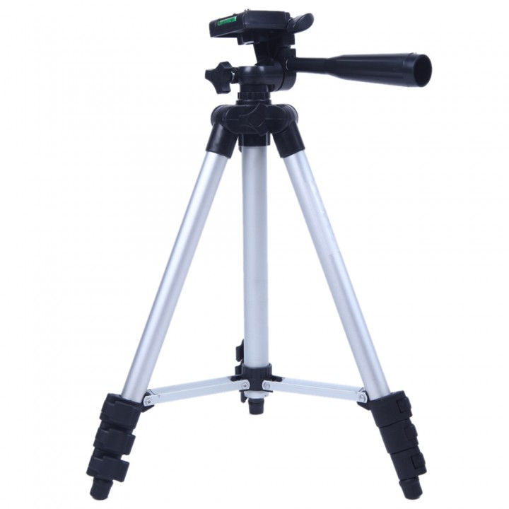 3110A Pro Camera Tripod Lightweight Flexible Portable Three-way Head black one size
