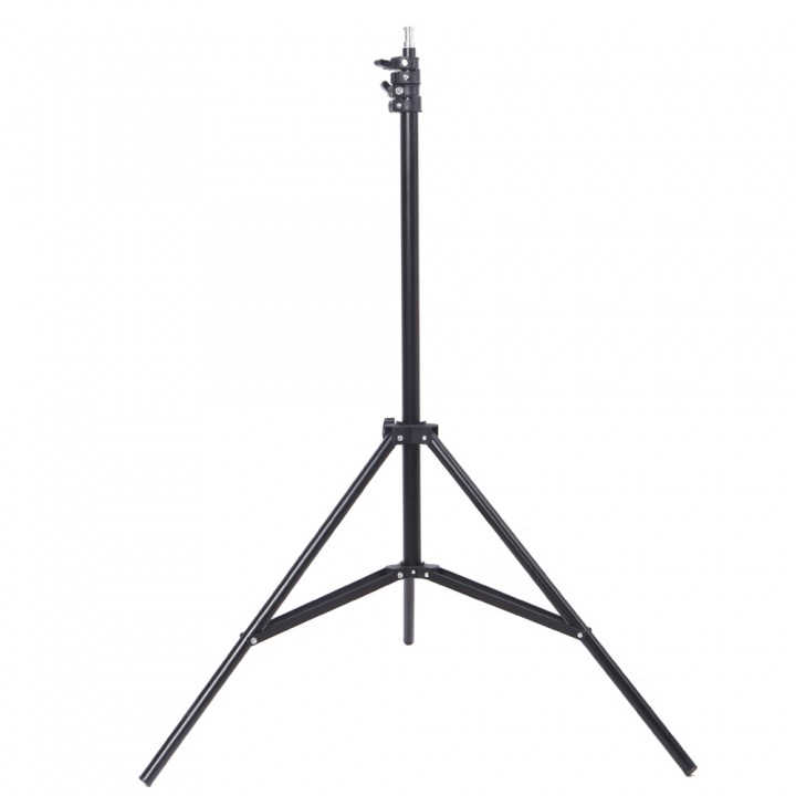 2m / 6.56ft Photography Studio Light Tripod Stand for Camera Photo Studio Soft Box black one size