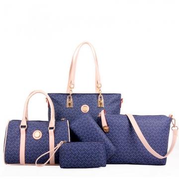Asleep Sheep 5PCS New Simple Lady Handbag Shoulder Bag Dark Blue one size