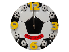 Fancy football wall clock