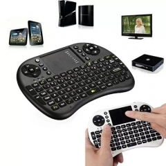 Mini USB Wireless Keyboard Touchpad Air Mouse Fly Mouse Remote Control for Phone TV Box PC Pad Black 20cm*10cm