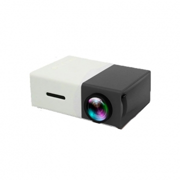 Portable Home Office Mini LED Projector Project  Machine Home Cinema Theatre black 15CM