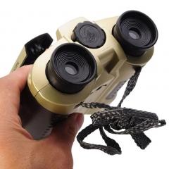 Children Kids 4 x 30 TeleScope Binoculars with POP Up Light Telescope Toy gold