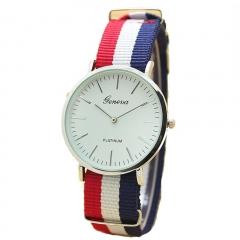 Men Quartz Watch Fashion Casual Geneva Fabric Nylon Canvas Military Wrist Watch 1 20