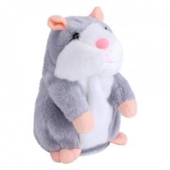Gift Talking Hamster Mouse Pet Plush Toy Speak Talking Record Hamster Plush Toys Gray 15