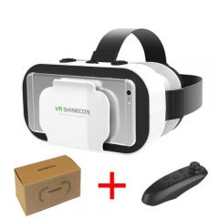 VR Shinecon 3D Glasses Virtual Reality Game Console For Phone Wtih Bluetooth Controller Joystick With Controller A 15 8