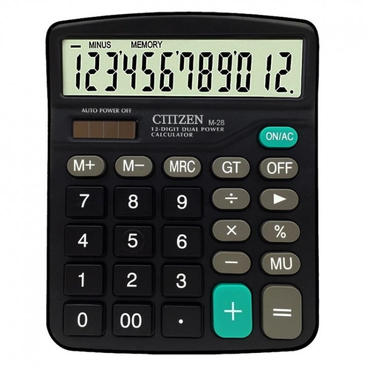 Desktop Calculator Dual Power 12 Digital Display General Purpose Calculator For Daily Office Working