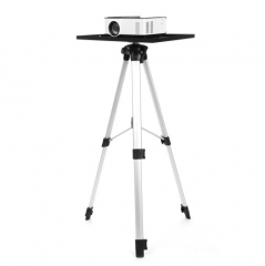 Projector Holder Three Pair Adjustable Flexible Portable Tripod Mount Bracket Aluminium Tray white 40cm