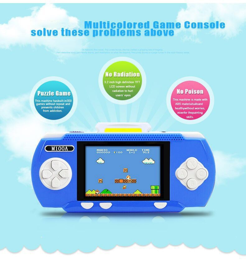 Handheld Children Student GamePad Player 4.3 inch Colorful Display Game Console 9