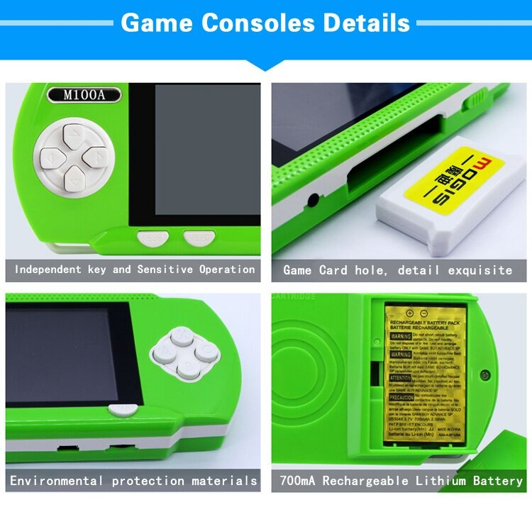 Handheld Children Student GamePad Player 4.3 inch Colorful Display Game Console 15