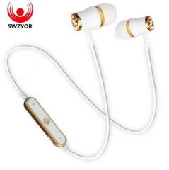 Sports Wireless Bluetooth Earphone Headset Bass Stereo Running Waterproof Headphone gold