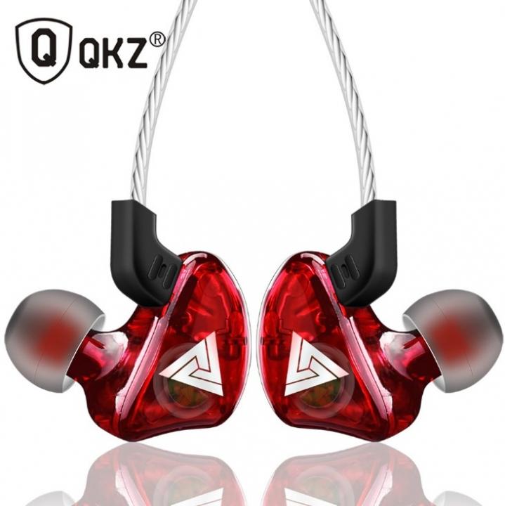 Super Bass Sport Earphones Stereo Running Headset DJ HiFi red