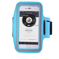 Running Riding Arm Band Cases Dirt-resistant Hand Bag Sport Mobile Phone Holder Pouch Belt Cover blue 5.5