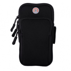 Sport Armbag Case Zippered Fitness Running Arm Band Bag  Workout Cover For Smart Phone Bag black 5.2-6.0