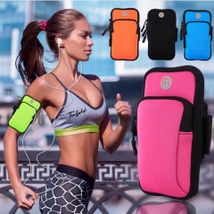 Sport Armbag For iPhone/Android Phone Case Zippered Fitness Running Arm Band Bag Workout Cover black 4-6inch