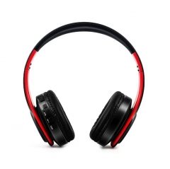 New Wireless Bluetooth Headset Stereo Headphones Earphones With Microphone Support TF Card black+red
