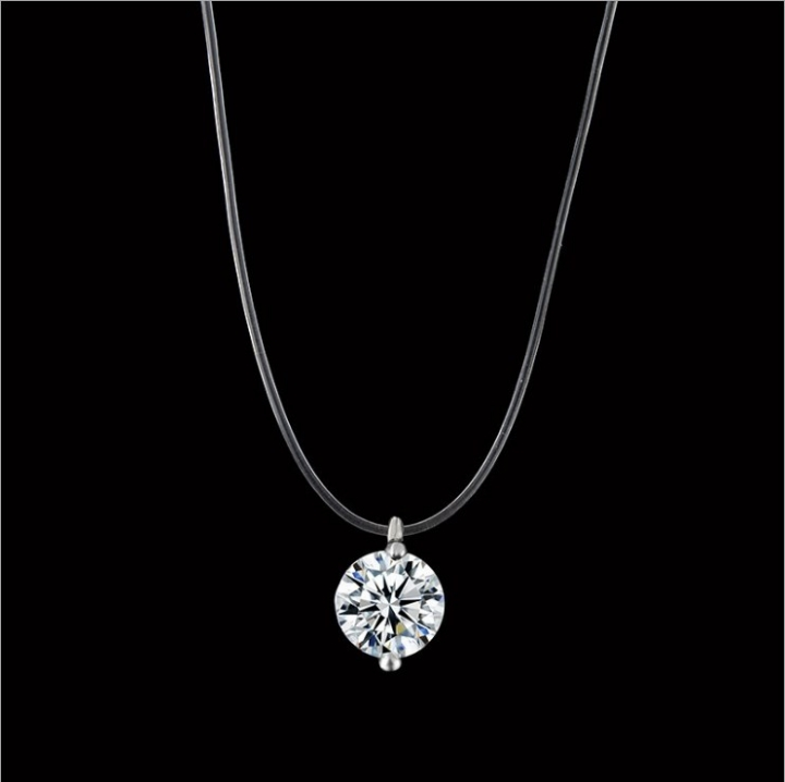Women Necklaces Fashion Jewelry Ladies Choker Pendants Lovers Gift silver 40cm