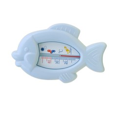 Baby Bath Thermometers Toy Floating Water Thermometers Float Fish Shaped Safe Sensor Thermometer blue 5