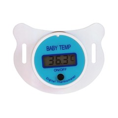 Baby Nipple Thermometer Medical Silicone Pacifier LCD Digital Children's Thermometer Health Safety blue 5