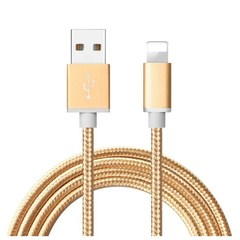 With Retail Box Android Phone Micro USB Type-C iPhone Data Cables Durable Nylon Wire Metal Gifts For iPhone Gold 1M